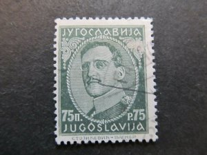 A4P23F92 Yugoslavia 1931-34 75p with imprint used