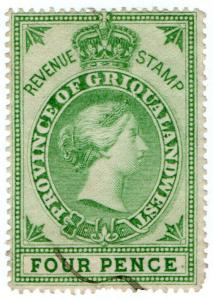 (I.B) Griqualand West Revenue : Duty Stamp 4d