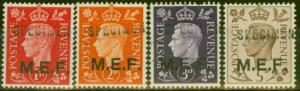 Middle East Forces 1942 Specimen set of 4 SGM1s-M5s Fine MNH