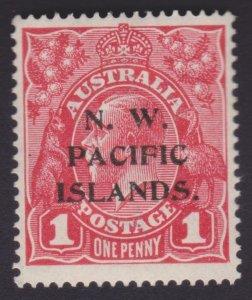 1p KGV Carmine-red - NORTH WEST PACIFIC ISLANDS OVERPRINT - UNUSED OG
