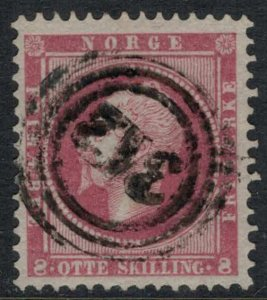 Norway #5  CV $65.00  Tree-ring numeral 312 (Tromso, Norway) cancellation