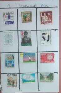 12 Stamps from Netherlands for $1.00 (Sell or trade)(NET-02)