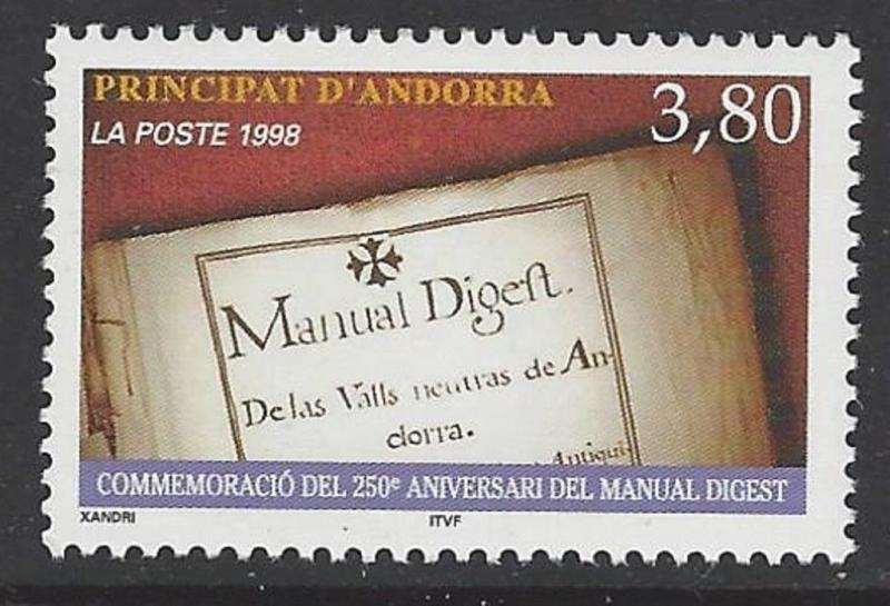 Andorra French 1998 Manual Digest VF MNH (503)