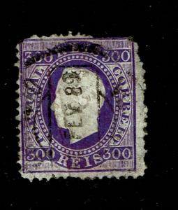 Portugal SC# 50a, Used, lg pg rem, repaired diagonal tear, see notes - S6558