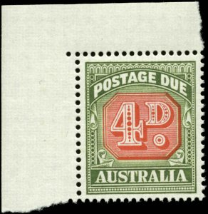 Australia Scott #J89 with Corner Margin Tab Mint Never Hinged  Type I