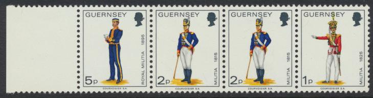 Guernsey  SG 99b  SC# 102A  Booklet strip of 4  MNH  see details