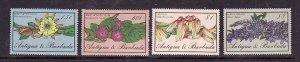 Antigua-Sc#948//955-unused NH 1/2 set-id3-Flowers-1986-