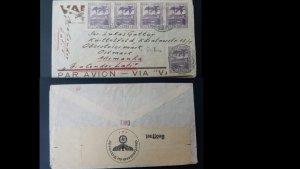 U) 1949, BRAZIL, LATI CONDOR, AIRMAIL, FROM BRAZIL TO GERMANY, CENSOR GERMAN MAR