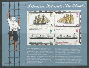 Pitcairn Island # 150a  Mailboats - souvenir sheet (1) Mint NH