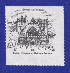 GB279) Exeter Emergency Delivery Service, Exeter Cathedral, 20p.