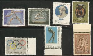 GREECE Scott 909-915 MNH* * 1968  sports stamp set