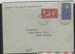 SOUTH GEORGIA COVER (PP1804B)1967 QEII 1/2D+1D LOCAL COVER