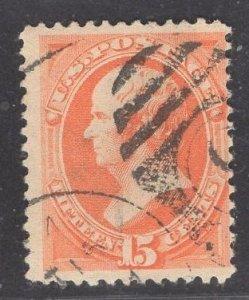 US Stamp #189 15c Red Orange Webster USED SCV $27.50