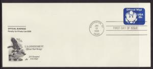 US UO73 Official Mail Artcraft # 10 U/A FDC