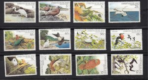 J28369, 1982-3 christmas islands part set mnh #117//132 birds