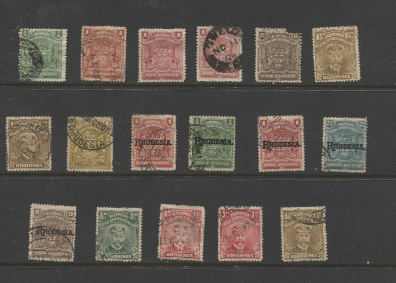 STAMP STATION PERTH Rhodesia # 17 Stamps Used - Unchecked