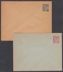 Monaco H&G B4a, B5b mint 1891 5c & 15c Prince Albert I Envelopes, 2 different