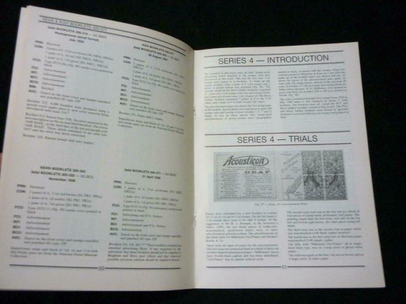 BRITISH STAMP BOOKLETS PART 3 SERIES 3 4 & 5 by ALEXANDER & NEWBERY
