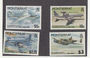 MONTSERRAT (SP57) # 830-833 VF-MNH  c,$ 1993  ROYAL AIR FORCE 75TH SET