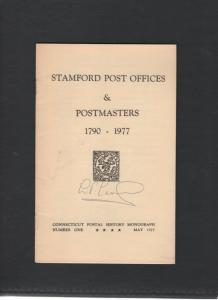 STANFORD POST OFFICES & POSTMASTERS 1790-1977 by L P LEONARD 156 0518