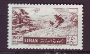 J2897 JLS stamps 1955 lebanon mh #c205 $11.00v sking
