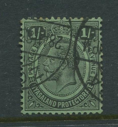 Nyasaland - Scott 19 - KGV - Definitive Issue. -1913 - FU - Single 1/- Stamp