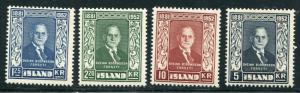 Iceland  #274 - 77 VF  NH  -    Lakeshore Philatelics