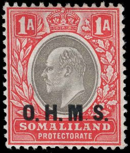 Somaliland Protectorate Scott O12 Variety Gibbons O11a Mint Stamp