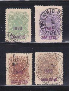 Brazil 152-153, 156-157 U Surcharges
