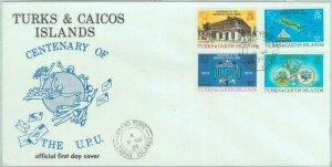 84448 - TURKS & CAICOS - Postal History - FDC COVER 1974 - UPU