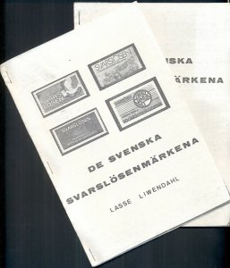 SWEDEN SVARSLOSEN STAMPS WITH SUPPLEMENT INSERT, WRITTEN IN SWEDISH, 33 PAGES
