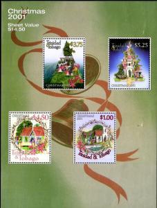 TRINIDAD & TOBAGO 637a S/S MNH SCV $9.00 BIN $5.00 CHRISTMAS 2001