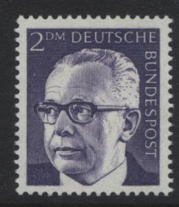 GERMANY. -Scott 1044 -Definitives - 1970- MNH - Single 2m Stamp