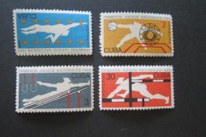 Cuba Sc 980-983 Sports Set MNH
