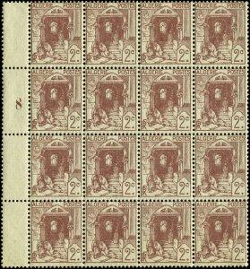 Algeria Scott #34 Plate # Margin Block of 16 Mint Never Hinged