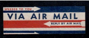 USA Air Mail Label , Etiquette , F-VF used - I Combine S/H