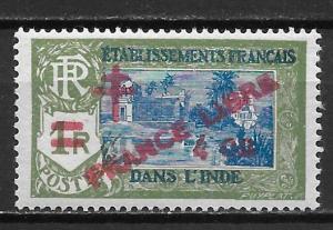 French India 200 1943 4c Libre single MNH