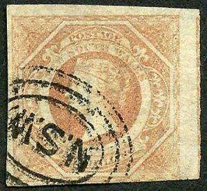 New South Wales SG101 1/- Brownish red Wmk 12 Cat 80 pounds