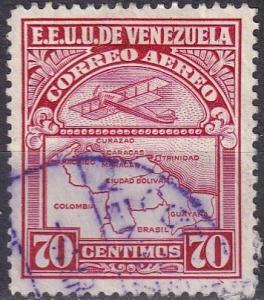 Venezuela #C125 F-VF Used  CV $7.75  Z314