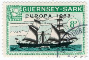 (I.B-JA) Guernsey Cinderella : Isle of Sark 8d (Commodore Shipping)