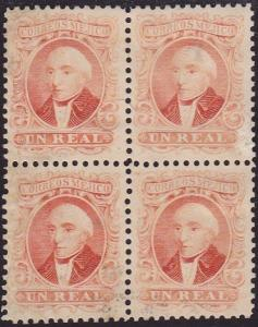 MEXICO An old forgery of a classic stamp - block of 4.......................2161