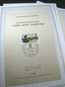 GERMANY FIRST DAY PROGRAM CARDS - 1985, #1 - #26