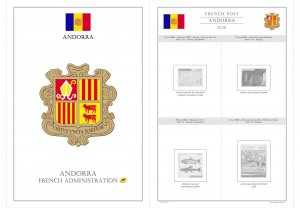 ANDORRA (FRENCH) 2020 - PRINTABLE STAMP ALBUM