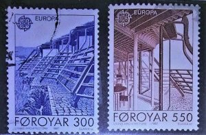 collectibles postage stamps from the faroes Islands Europa Living Archecture