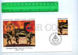 242060 MARSHALL ISLANDS WWII Remagen Bridge Taken by US Forces 1995 year FDC