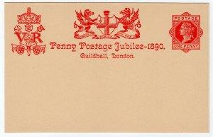 (I.B) QV Postal : Penny Post Jubilee Card (Kensington 1890)
