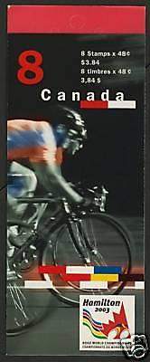 Canada 1998a Booklet BK275a MNH Road Cycling World Championships