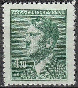 Stamp Germany Bohemia Czech Mi 142 Sc 90 WWII Fascism War Era Hitler MNH