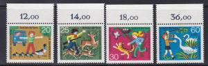 Germany # B481-484, Animal Protection,  NH, Half Cat