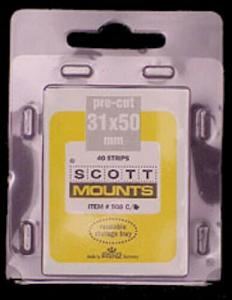 Scott/Prinz US Jumbo Vertical Stamp Mounts Size: 31x50 Clear #908 C